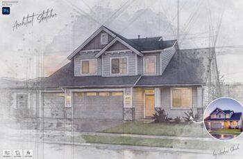 Architect Sketcher - Photoshop Action 29122441 7