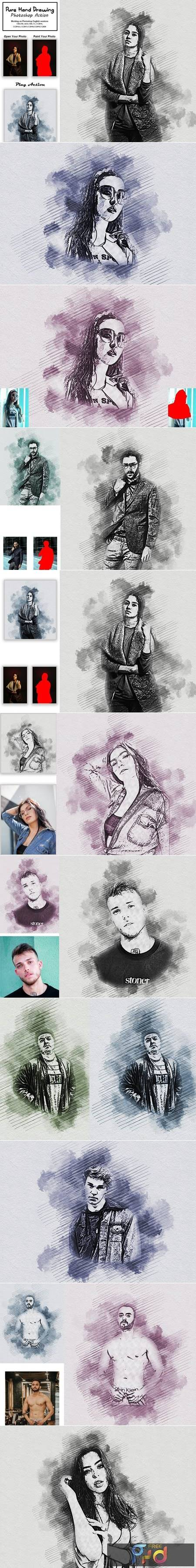 Pure Hand Drawing Photoshop Action 5354336 1