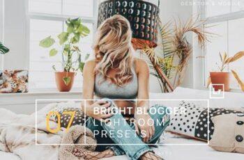 7 Bright Blogger Lightroom Presets + Mobile CDTBXJG 12