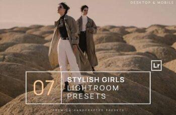 7 Stylish Girls Lightroom Presets + Mobile L7AXR9L 4