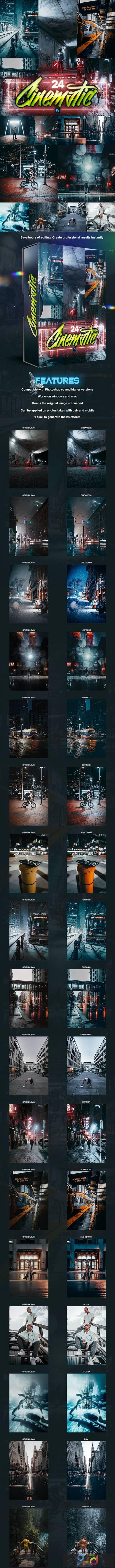 24 Cinematic PRO Photoshop Actions 28734799 1