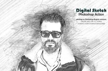 Digital Sketch Photoshop Action 5218660 15