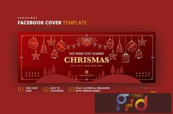 Christmas Facebook Cover Template CPLDAP7 9