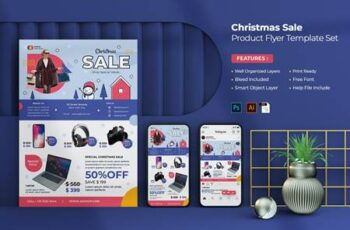 Christmas Sale Product Flyer Set CNQGSGN 1