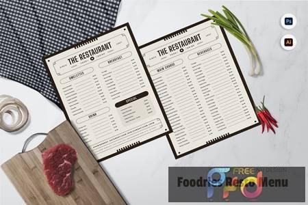 Foodries Restaurant Menu BLCC72L 1