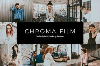 20 Chroma Film Lightroom Presets & LUTs TPQHPCR 4