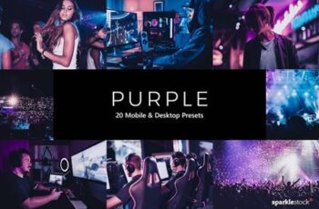 20 Purple Lightroom Presets & LUT 9CSDD7H 7