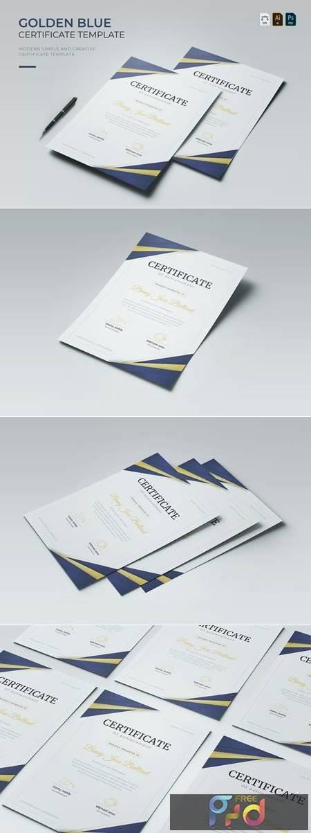 Golden Blue - Certificate CNM3LHS 1