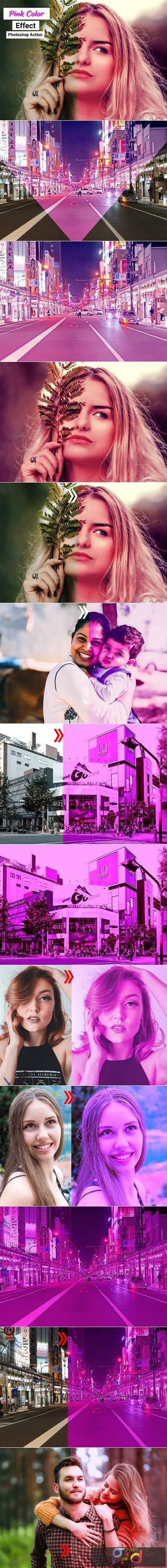 Pink Color Effect Photoshop Action 4910888 1