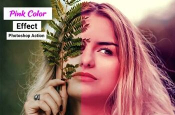 Pink Color Effect Photoshop Action 4910888 3