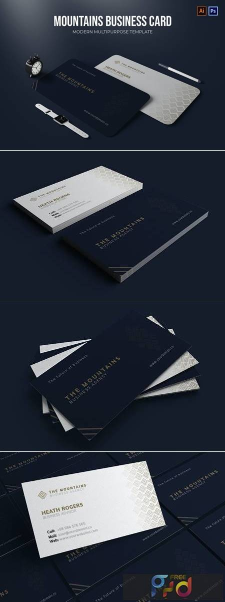 The Mountains Agency - Business Card X2EK3UJ 1