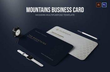 The Mountains Agency - Business Card X2EK3UJ 4