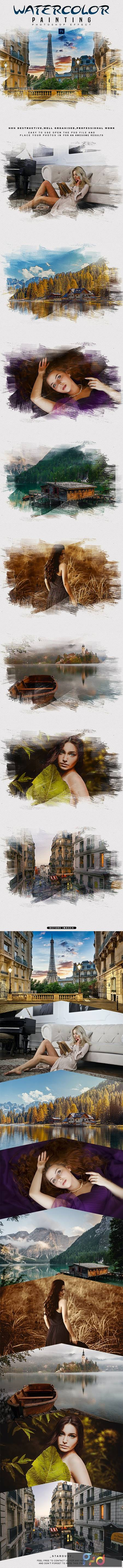 Watercolor Painting - Photoshop Effect 28936851 1