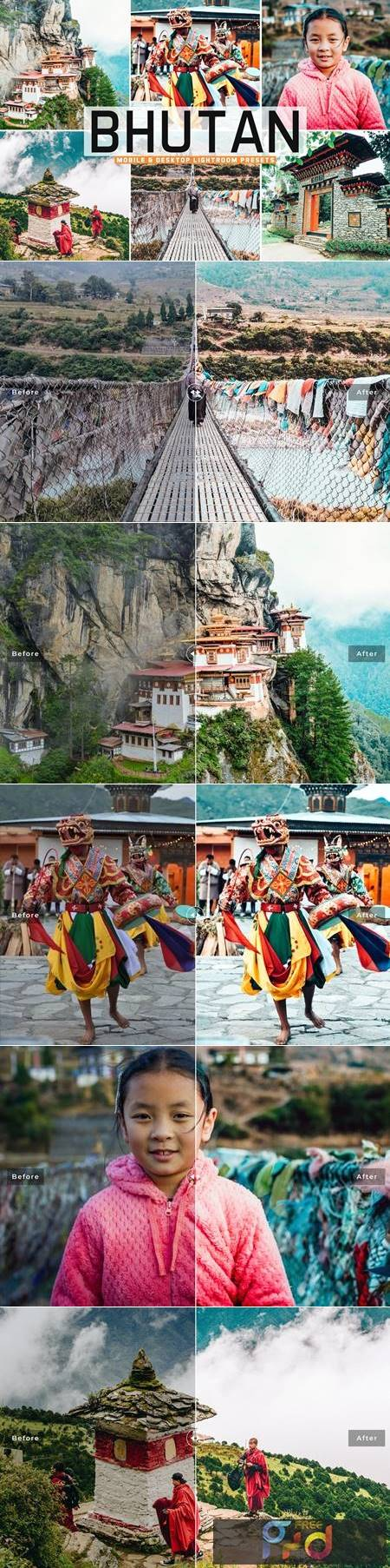 Bhutan Mobile & Desktop Lightroom Presets MPVTXFR 1