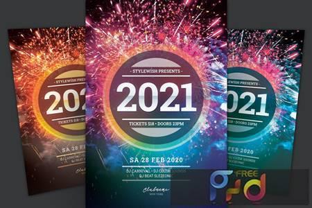 New Year Flyer 5A7YDRN 1