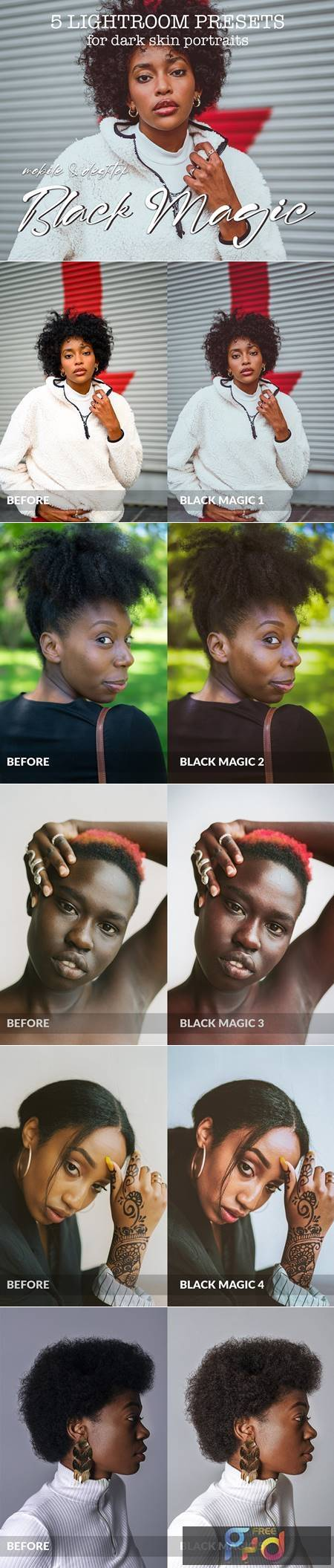 5 Dark Skin Lightroom Presets 5361772 1