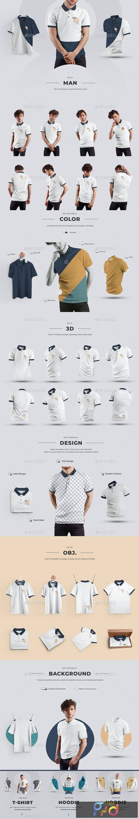 24 Polo Men Mockup - Man-3D-Objects ( Collection #4 ) 29362775 1