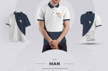 24 Polo Men Mockup - Man-3D-Objects ( Collection #4 ) 29362775 8