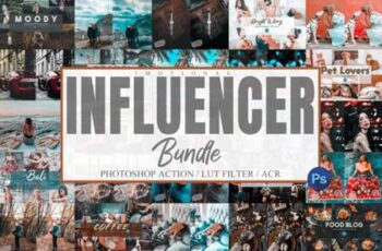 Bundle 95 Photoshop Actions, ACR, LUT 6317753 5
