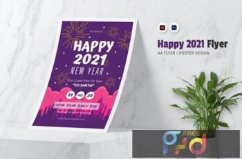 Happy 2021 New Year Flyer DDDFMTF 9