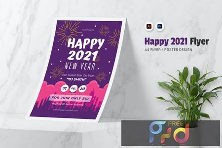 Happy 2021 New Year Flyer DDDFMTF 1
