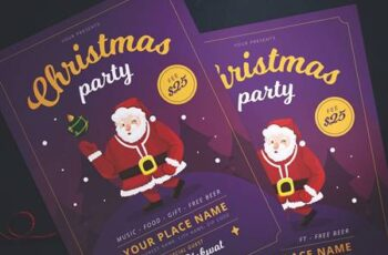 Christmas Party Flyer 9PFK8WK 6