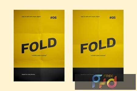 Flyer Paper Fold Mockup 4RRRPSE 1