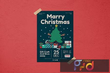 Marry Christmas Flyer CRT29E8 1