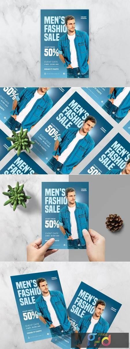 Mens Fashion Sale Flyer FLNE3M2 1