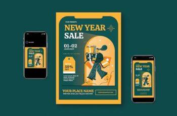 New Year Sale Flyer Set A4ZHQLP 7