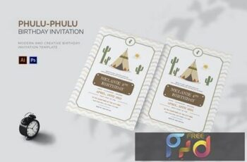 Phulu- Phulu - Birthday Invitation YP7VS9R 10