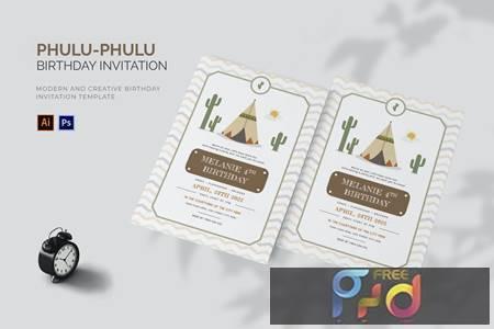 Phulu- Phulu - Birthday Invitation YP7VS9R 1