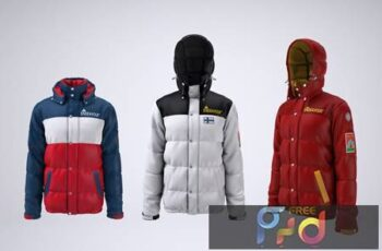 Puffer Jacket Mock-up 3LYNS9R 8
