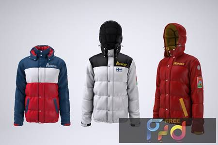Puffer Jacket Mock-up 3LYNS9R 1