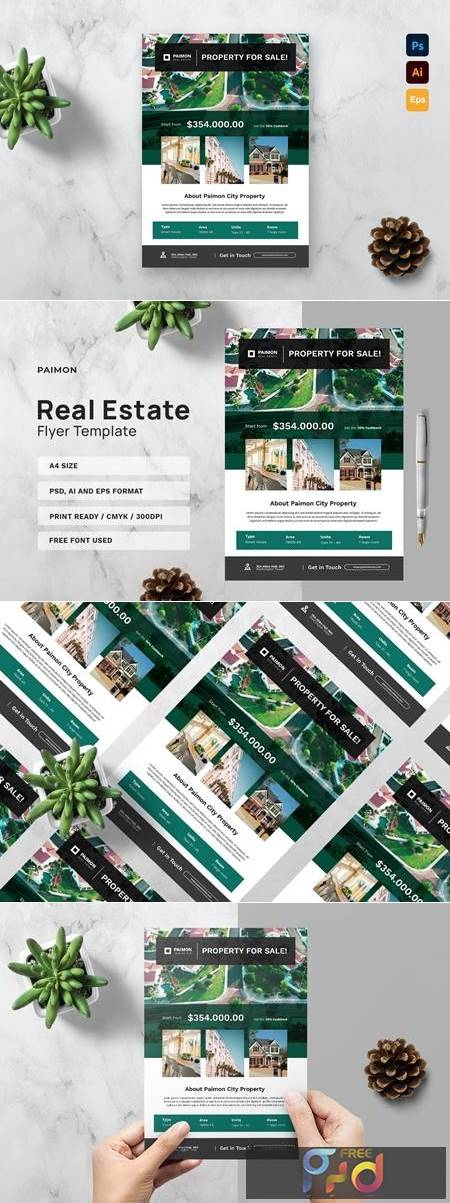 Real Estate Flyer Template XPW8MFW 1