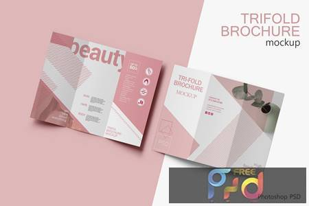 Trifold Brochure Mockup V.4 BFR6AB4 1