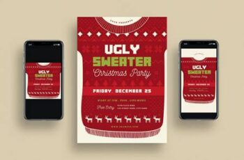 Ugly Sweater Christmas Party + Social Media 64N8ZAL 4