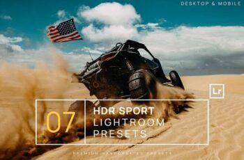 7 HDR Sports Lightroom Presets + Mobile YWB5AFS 6