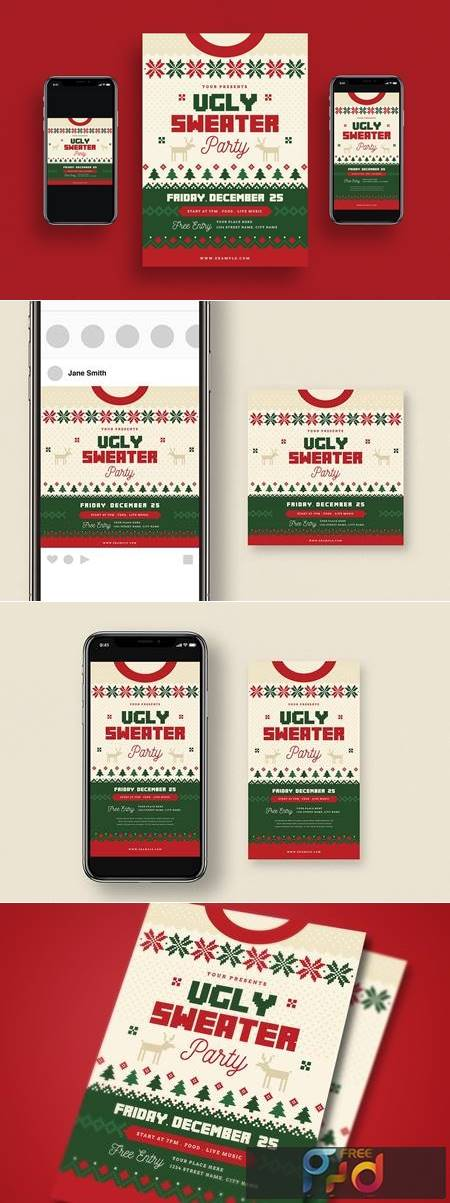Ugly Sweater Christmas Party + Social Media VQ6NNBD 1