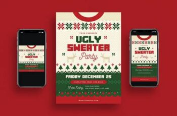 Ugly Sweater Christmas Party + Social Media VQ6NNBD 6