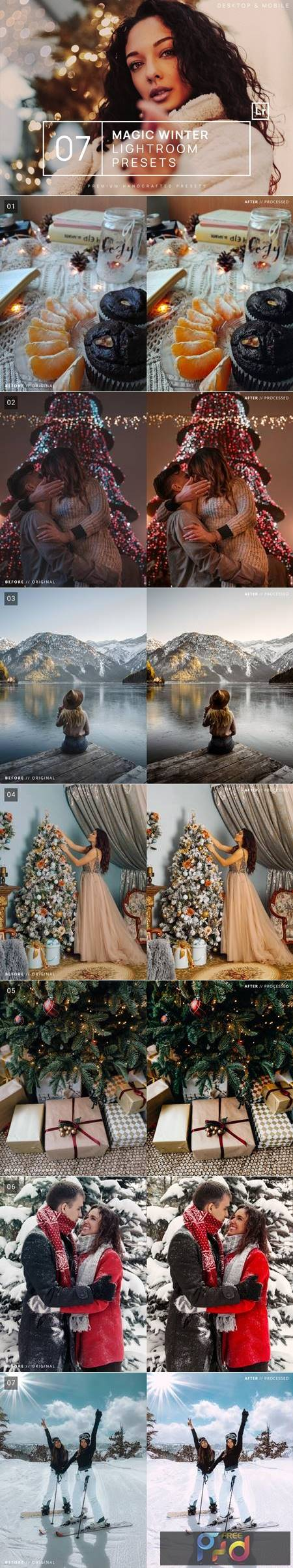 7 Magic Winter Lightroom Presets + Mobile DEMZJRT 1
