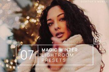 7 Magic Winter Lightroom Presets + Mobile DEMZJRT 4