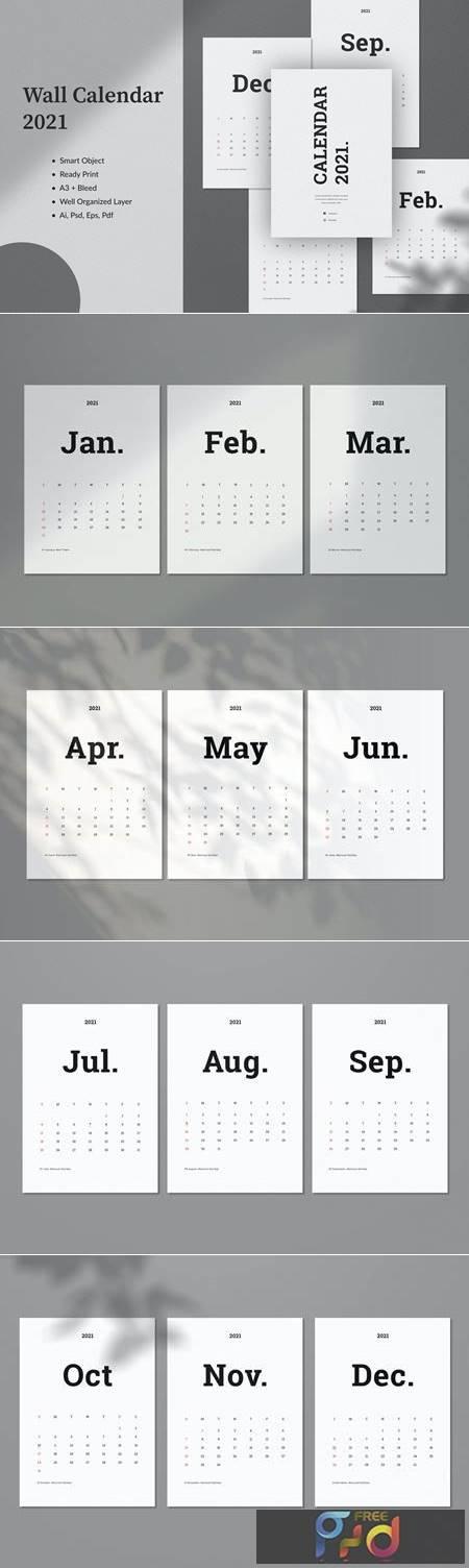 Wall Calendar 2021 8EVGXCK 1