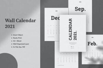 Wall Calendar 2021 8EVGXCK 6