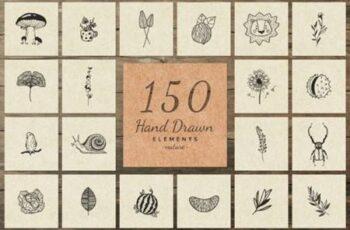 150 Hand Drawn Elements Nature III 6576141 8