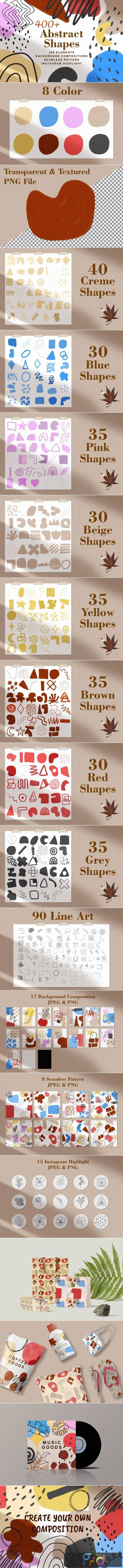 400+ Abstract Shapes Textured Elements 6676427 1