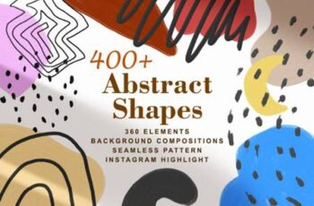 400+ Abstract Shapes Textured Elements 6676427 3