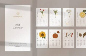 2021 Illustration Calendar Printable 6673465 2