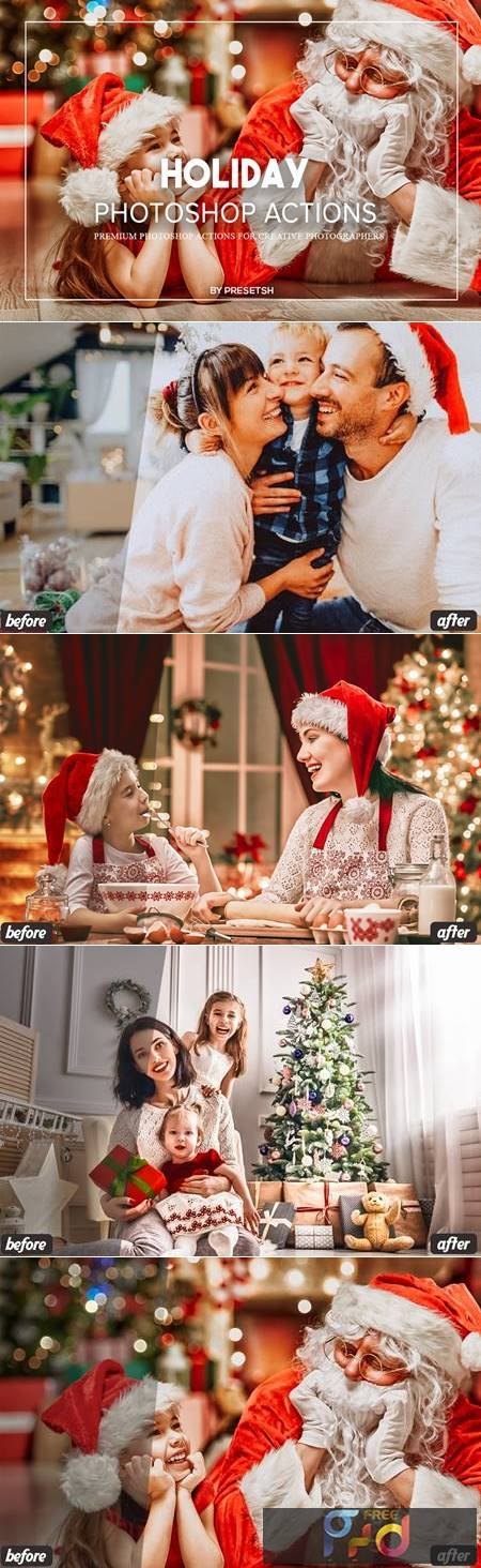 Holiday Photoshop Actions SZ2359B 1