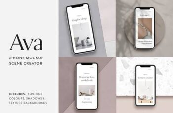 Ava - iPhone Mockup Scene Creator 3270184 6